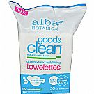 Alba Botanica Good & Clean Dual Textured Exfoliating Towelettes