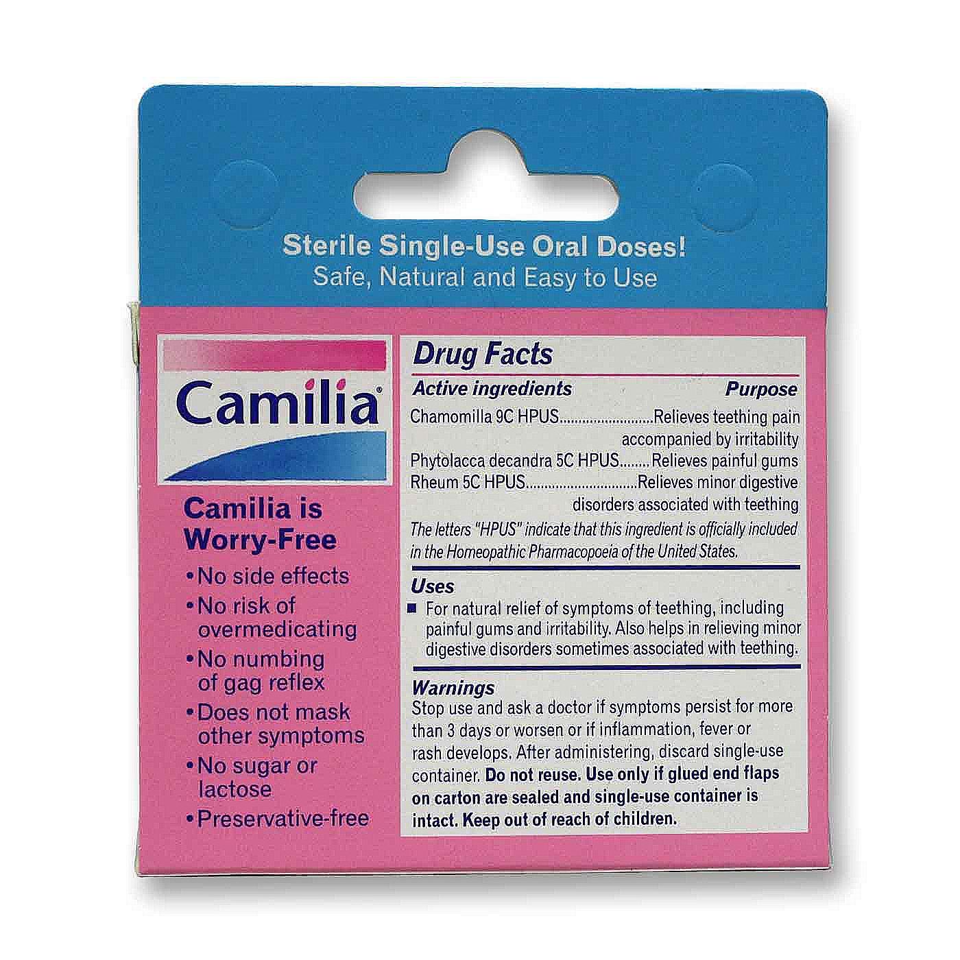 Boiron Camilia For Teething Relief 15 Doses Evitamins Com