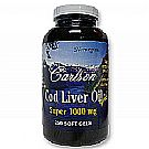 Carlson Labs Cod Liver Oil Super 1000 mg Softgels