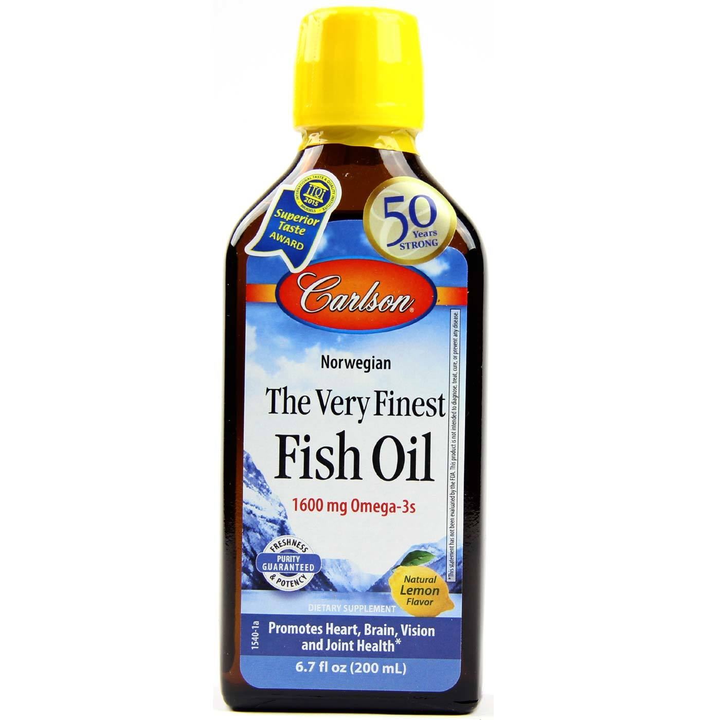 Carlson labs very finest fish oil lemon 200 ml for On fish oil