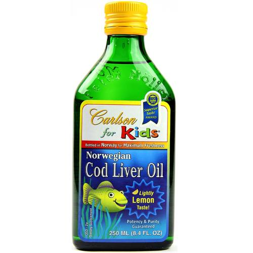 Carlson labs cod liver oil for kids 250 ml for Fish oil for children