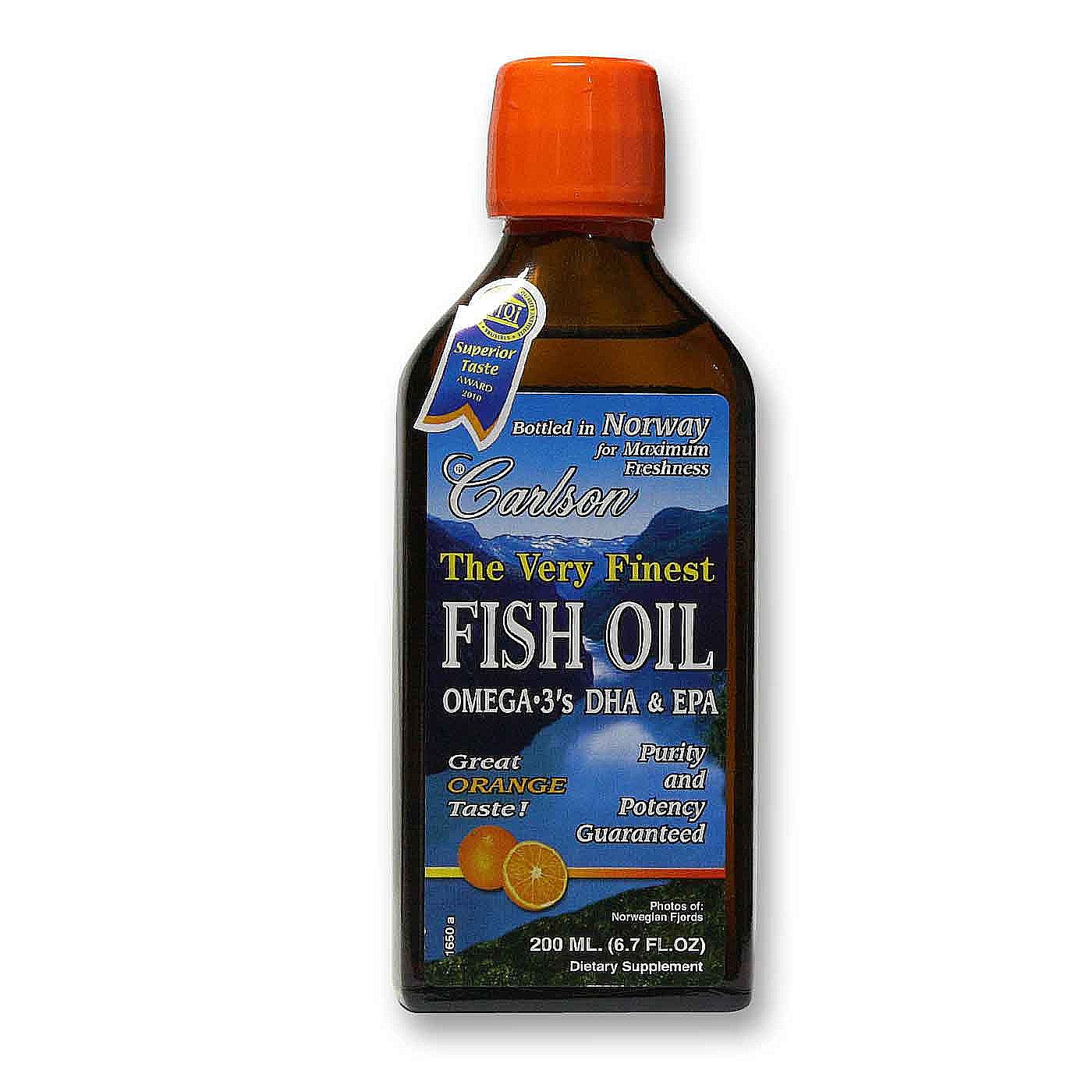 Carlson labs very finest fish oil orange 200 ml for Carlson labs fish oil