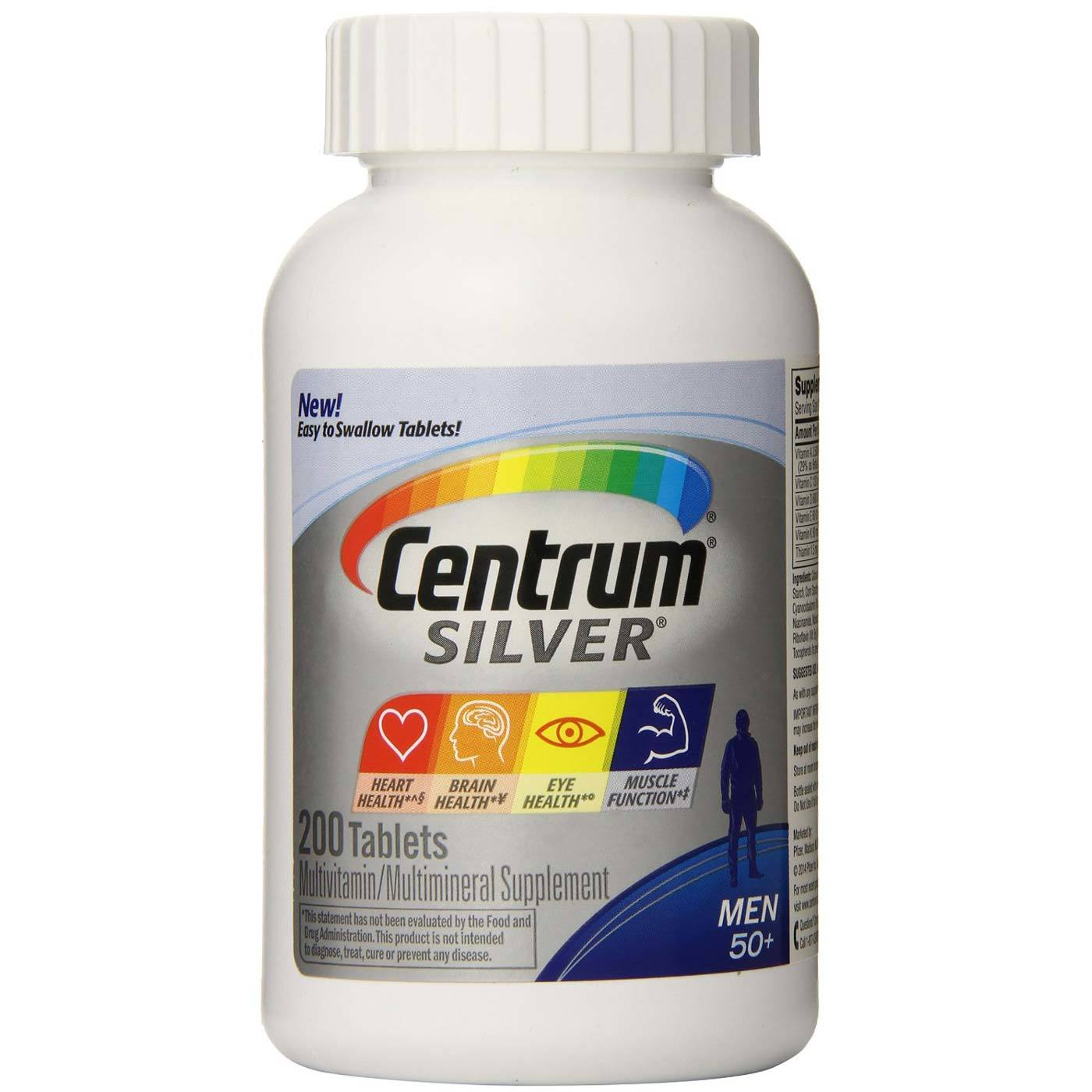 Centrum Silver Men's 50+ Multivitamin - 200 Tablets