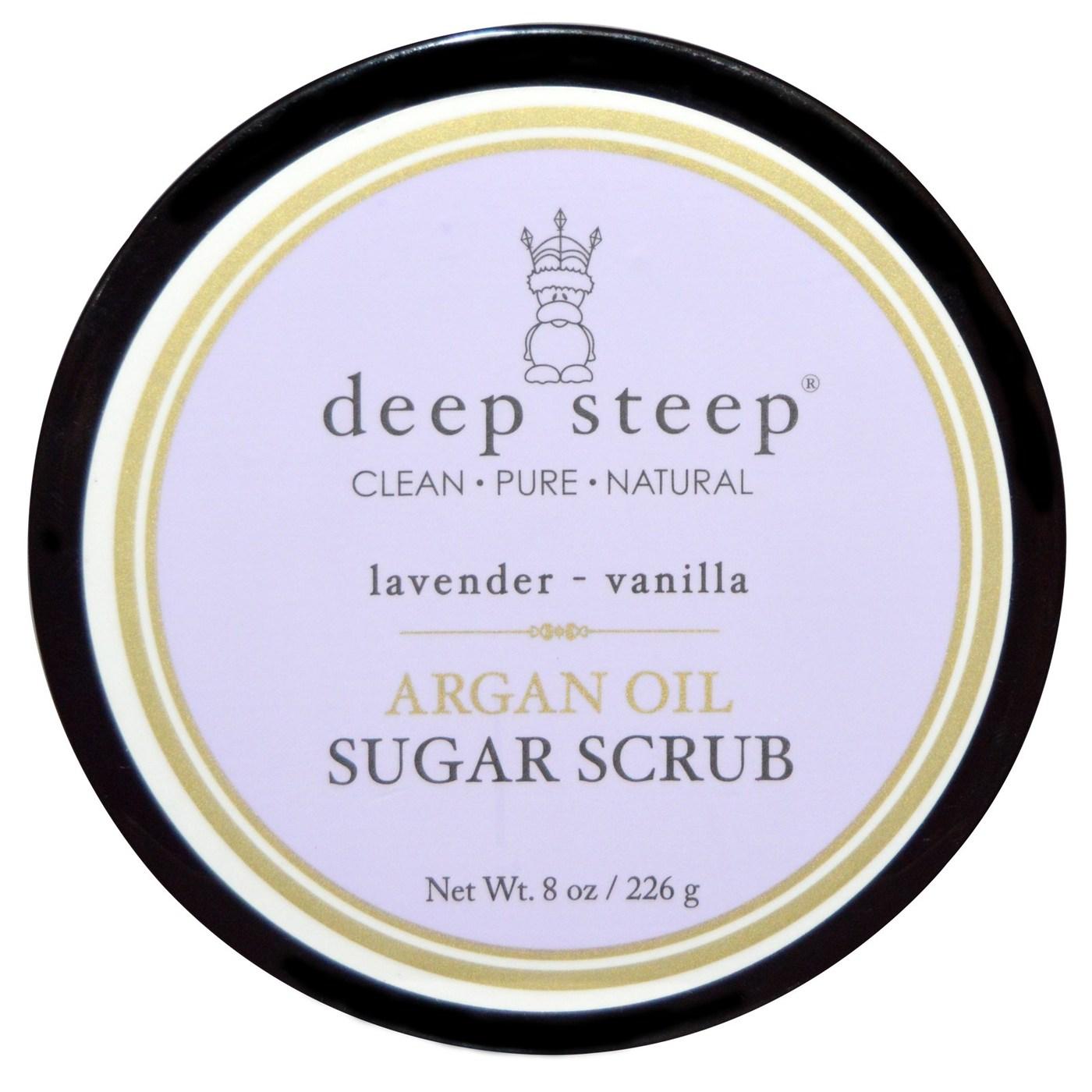 Buy Deep Steep Argan Oil Sugar Scrub, Lavender Vanilla - 8 oz UK
