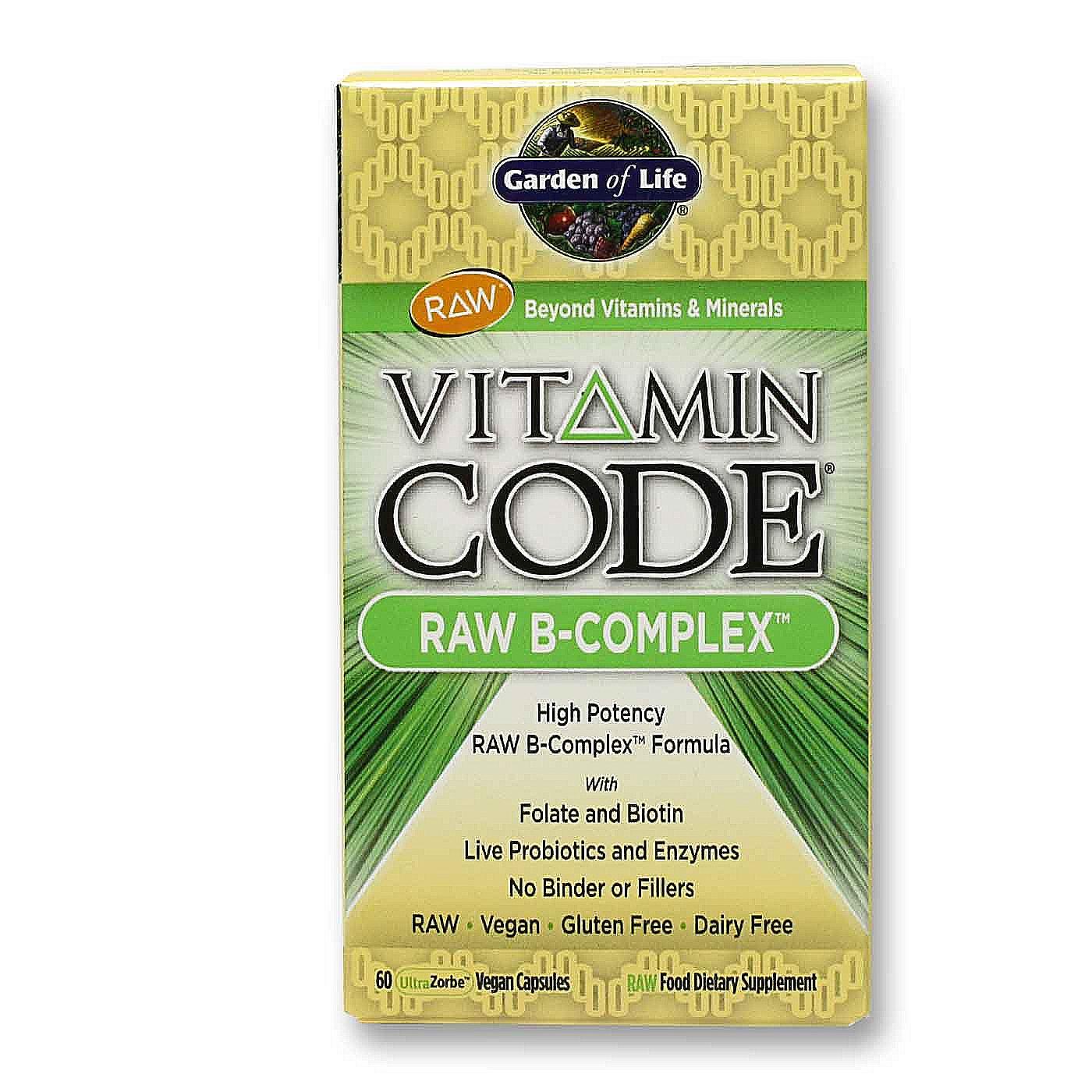 Buy Garden Of Life Vitamin Code Raw B Complex 60 Vcaps Uk