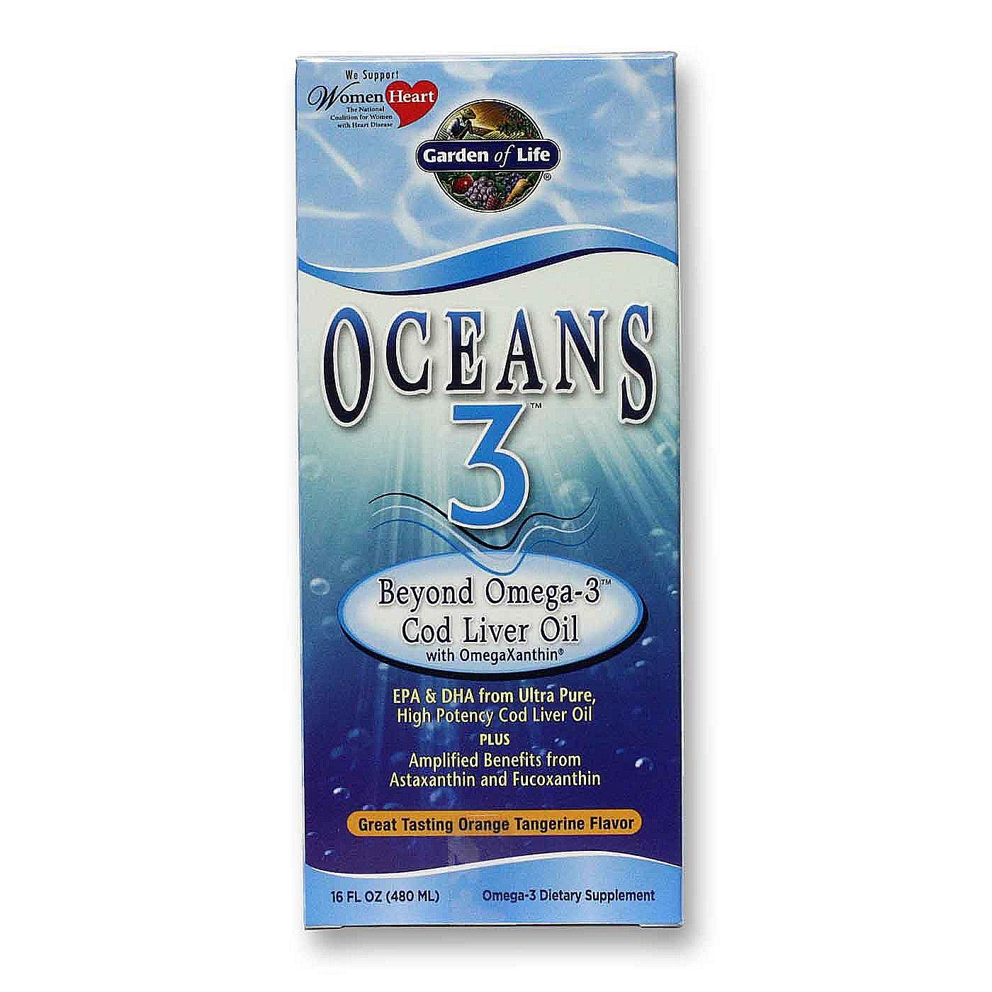 Garden Of Life Oceans 3 Beyond Omega 3 Cod Liver Oil 16 Fl Oz
