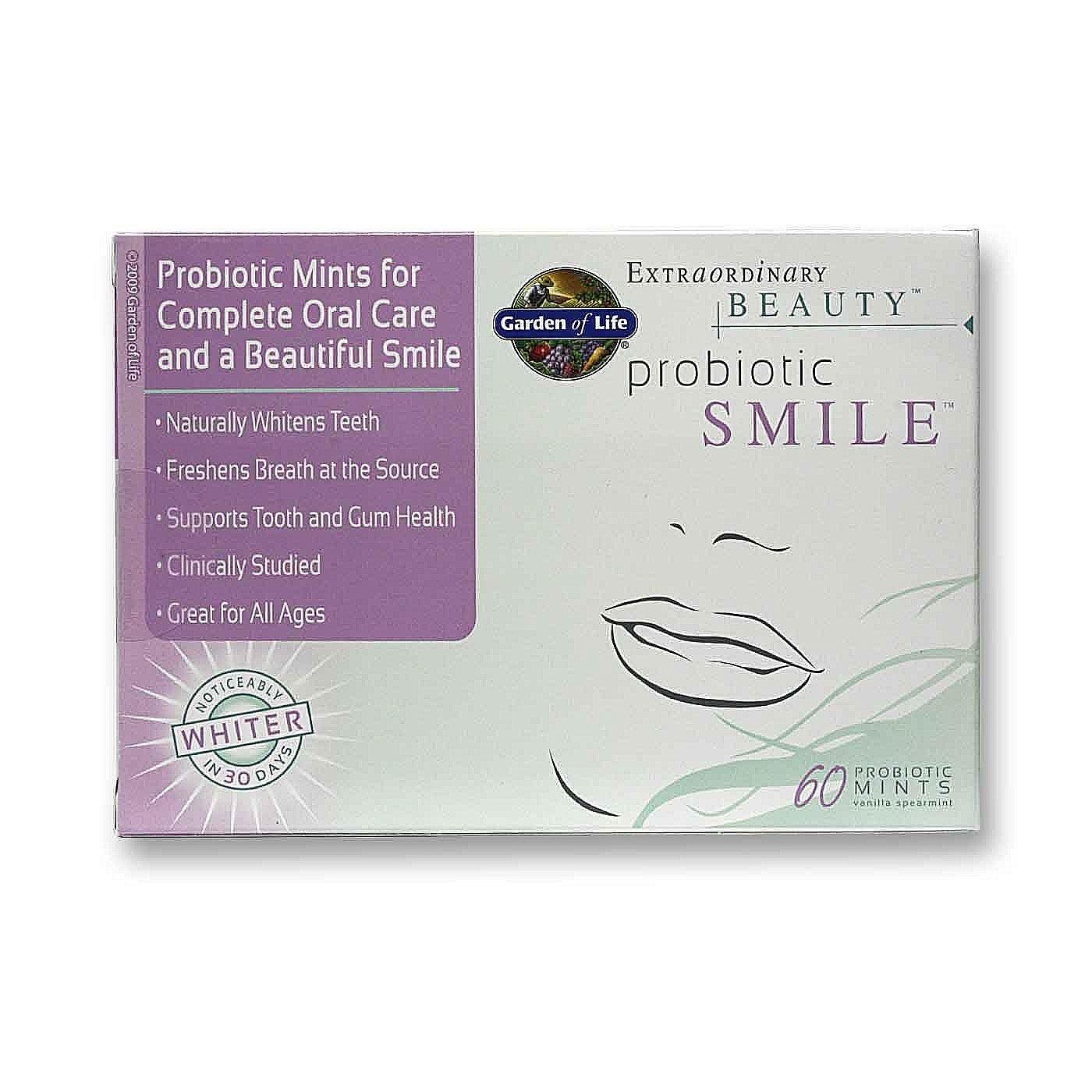 Garden Of Life Probiotic Smile Vanilla 60 Mints