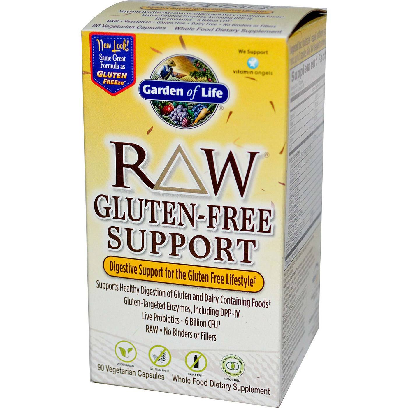 Garden of life raw gluten free support 90 vcaps for Garden of life raw cleanse reviews