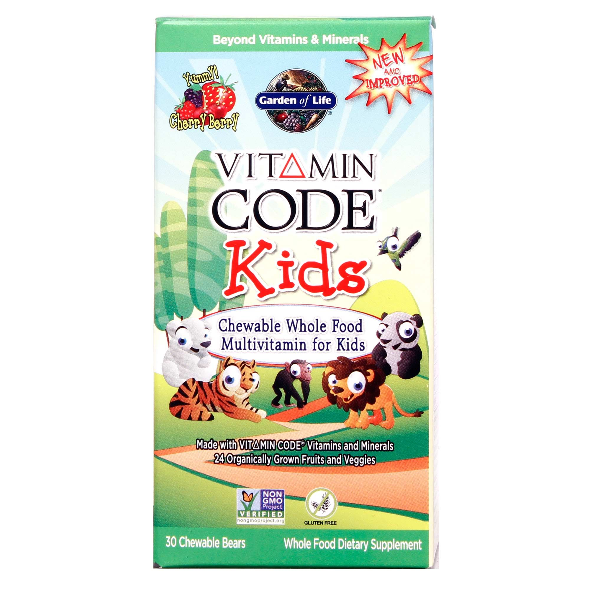 Garden of life vitamin code kids cherry 30 chewables - Garden of life vitamin code kids ...