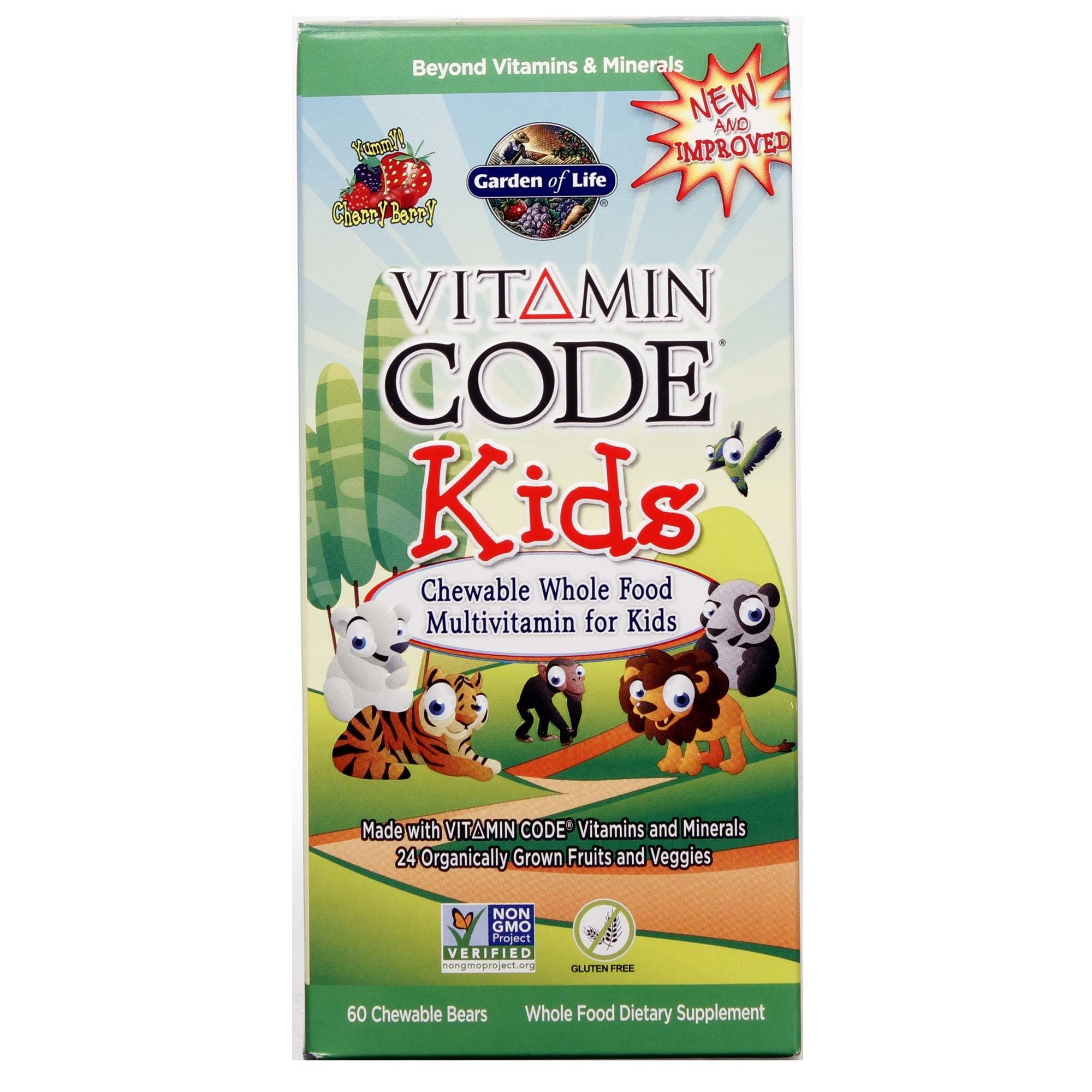 Garden of life vitamin code kids cherry 60 chewables - Garden of life vitamin code kids ...