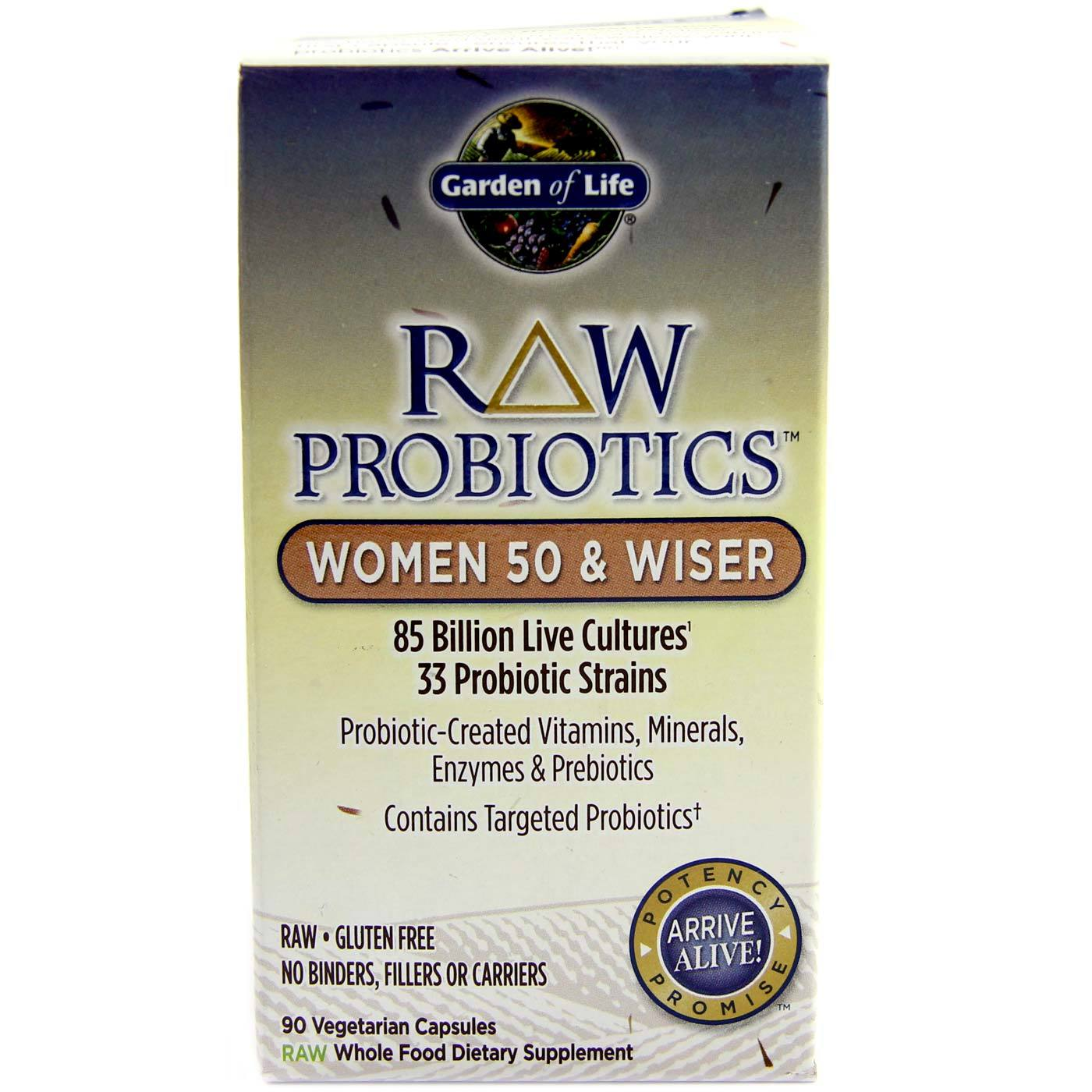 Garden Of Life Raw Probiotics Women 50 And Wiser 90 Vcapsules