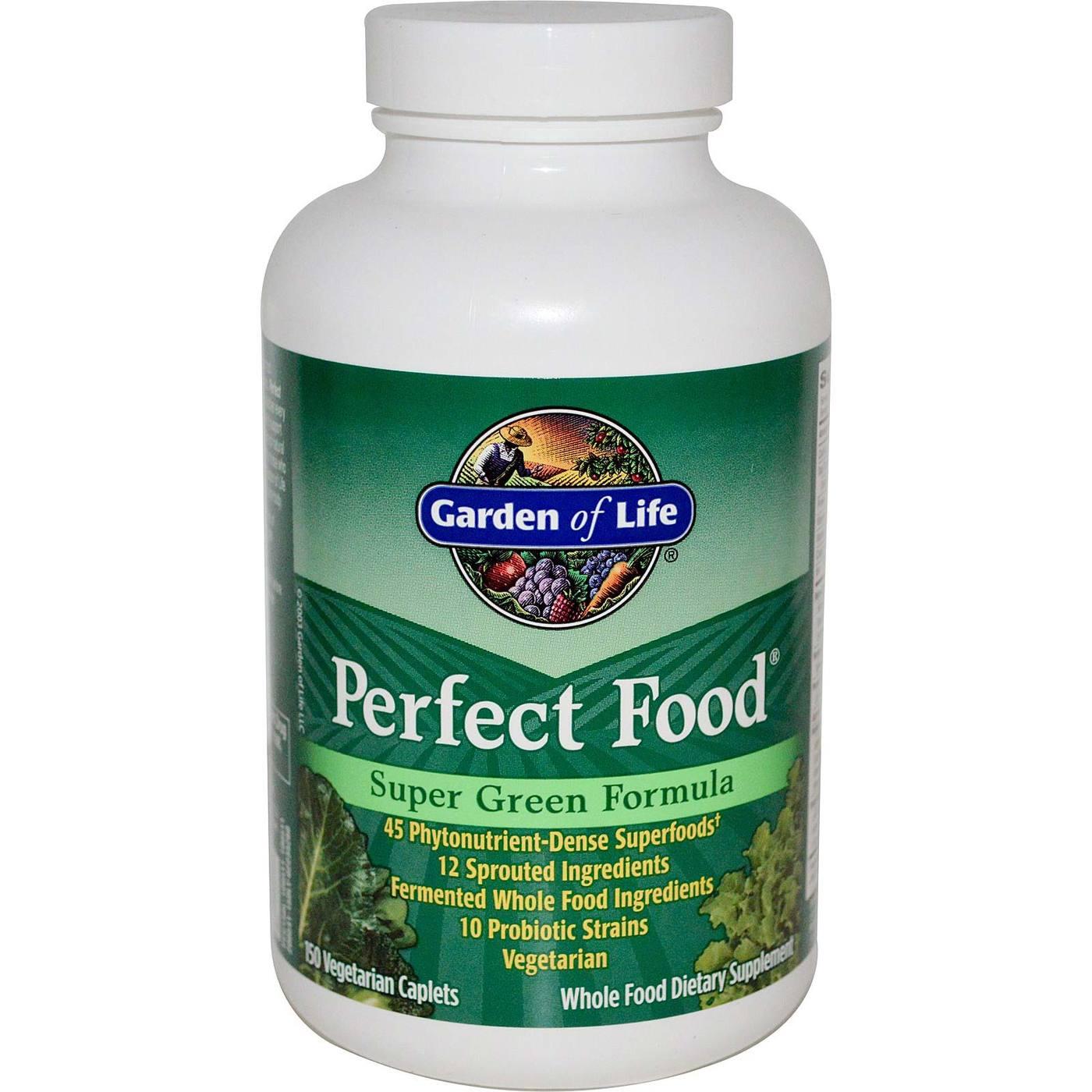 Garden Of Life Perfect Food Green Label 150 Caps Evitamins Canada