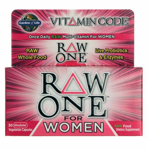 Garden Of Life Vitamin Code Raw One For Women 30 Vcapsules