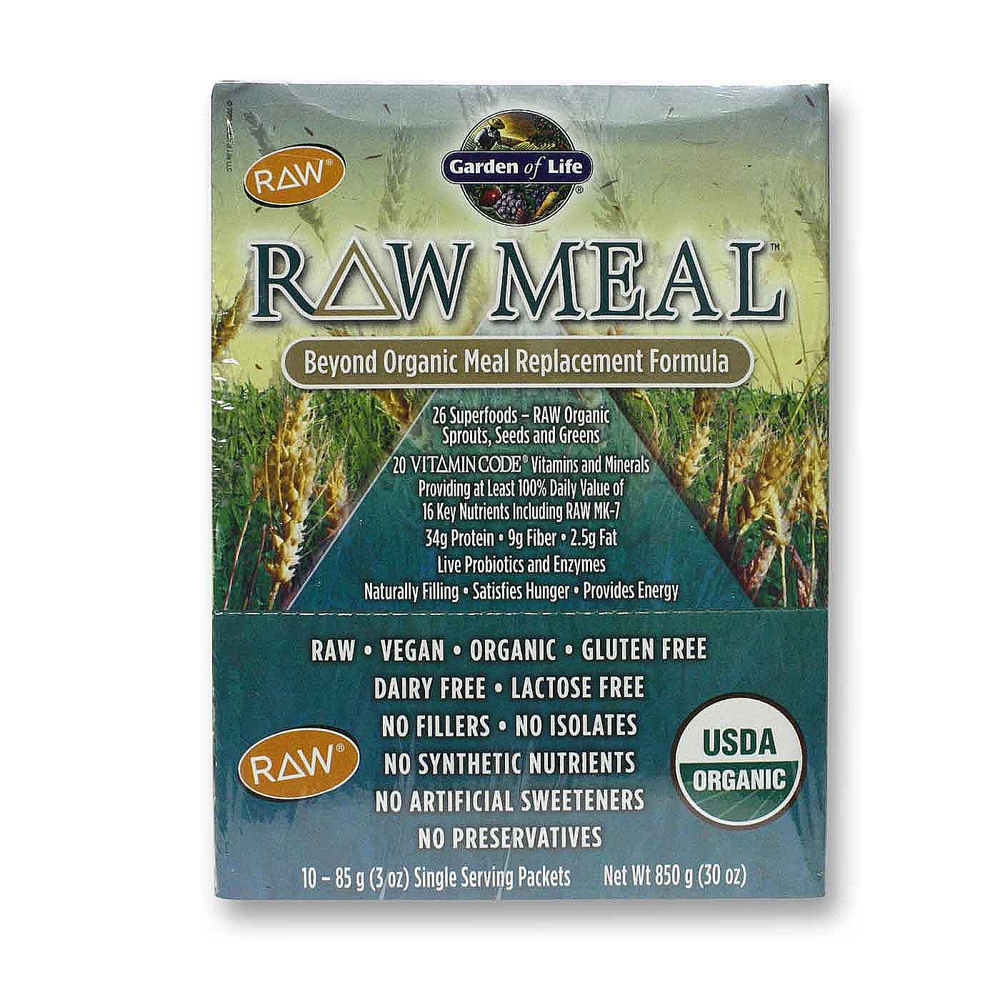 Garden of life raw meal original 10 3 oz packets for Garden of life raw cleanse reviews