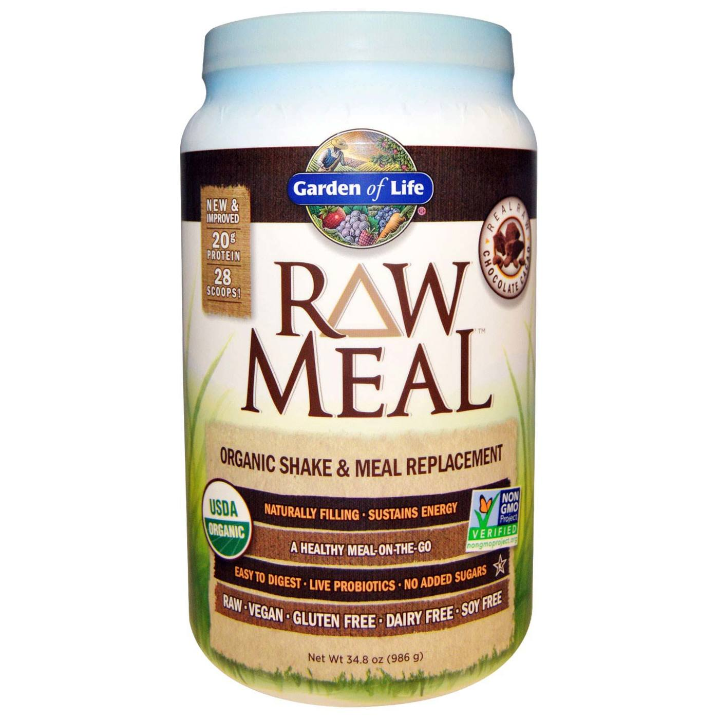 Garden Of Life Raw Meal Chocolate Cacao 32 Oz