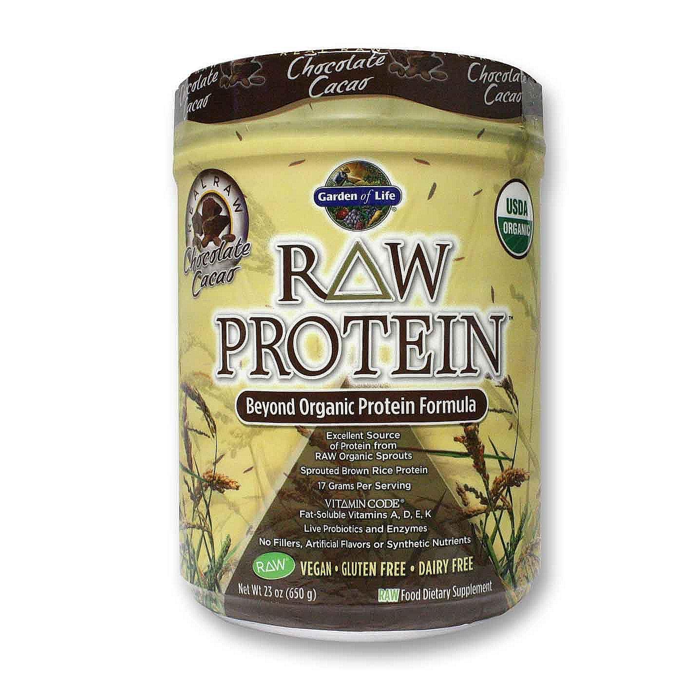 Garden Of Life Raw Protein Chocolate Cacao 23 Oz