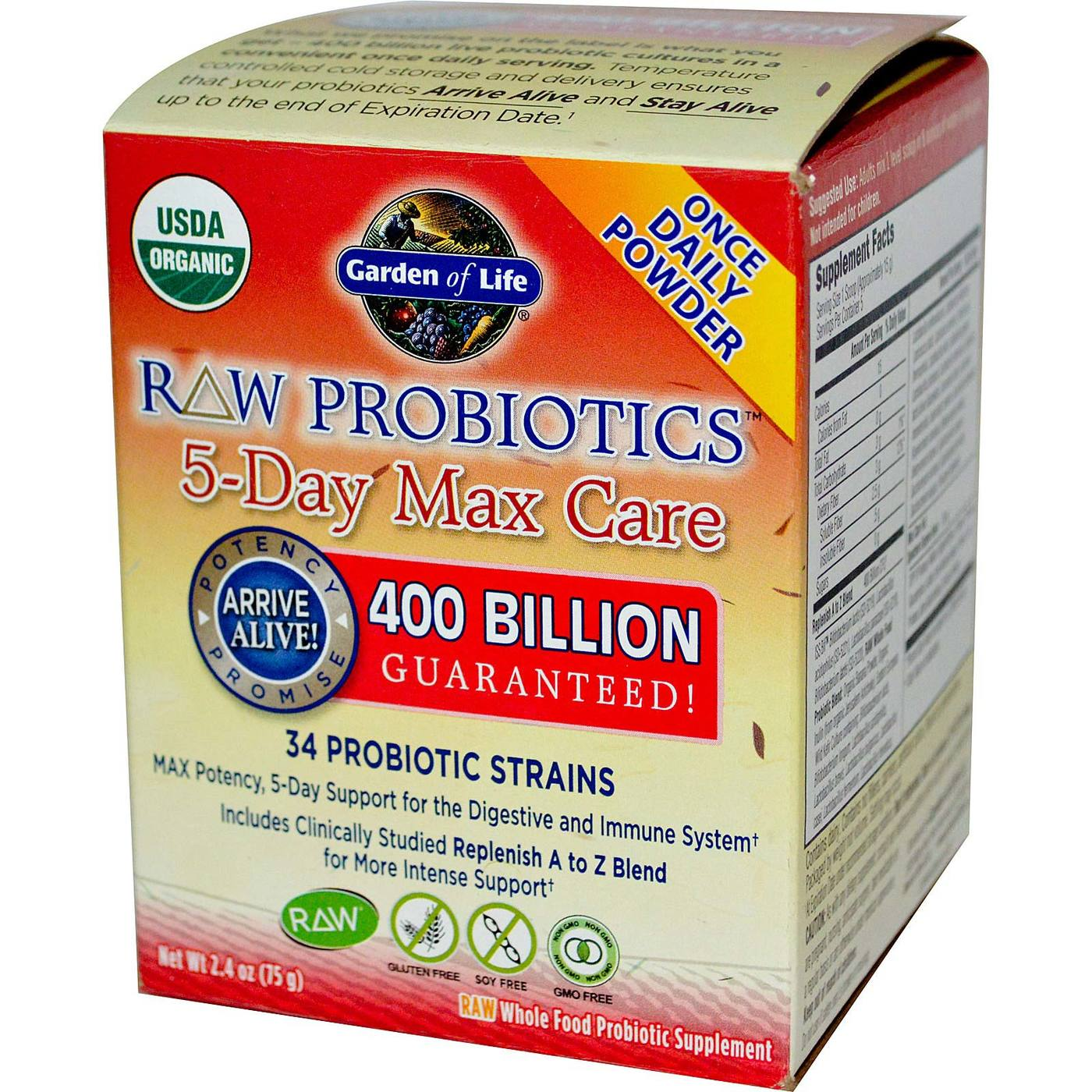 Garden of life raw probiotics 5 day max care 5 scoops for Garden of life raw cleanse reviews