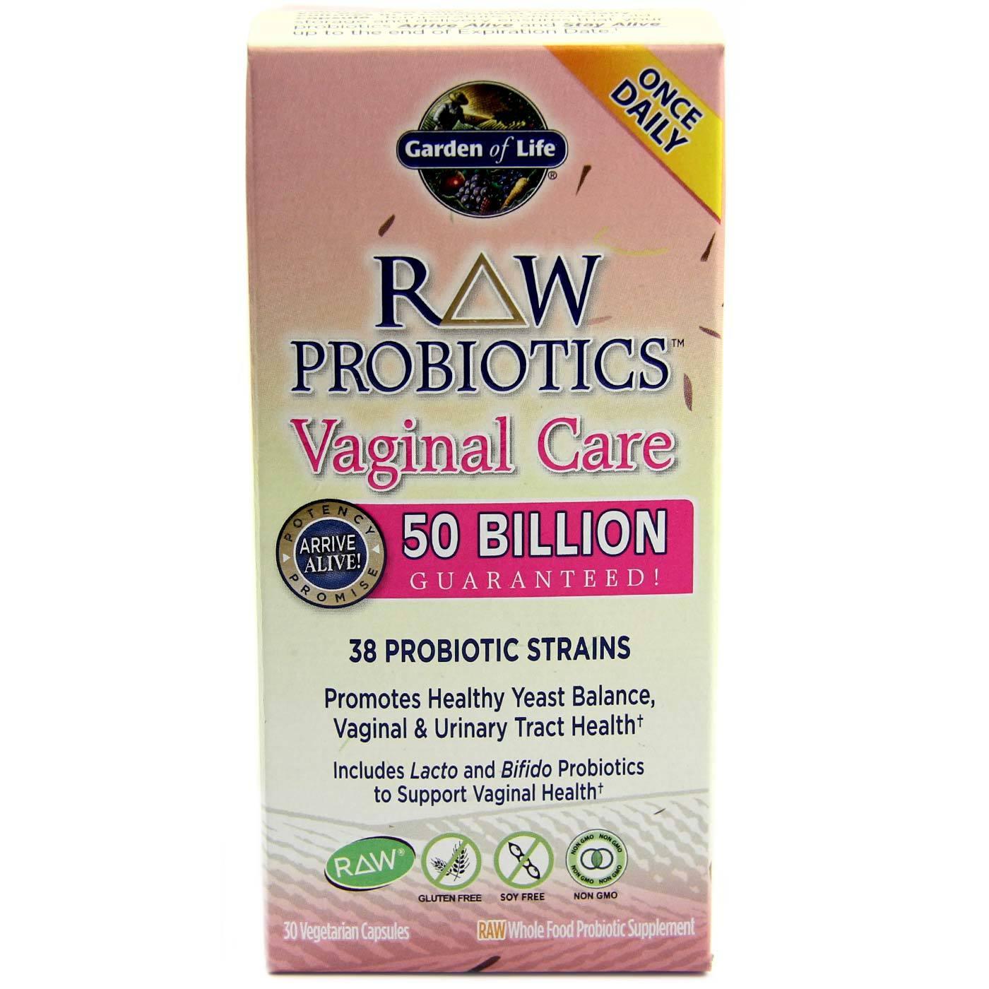 Garden Of Life Raw Probiotics Vaginal Care 30 Vcapsules