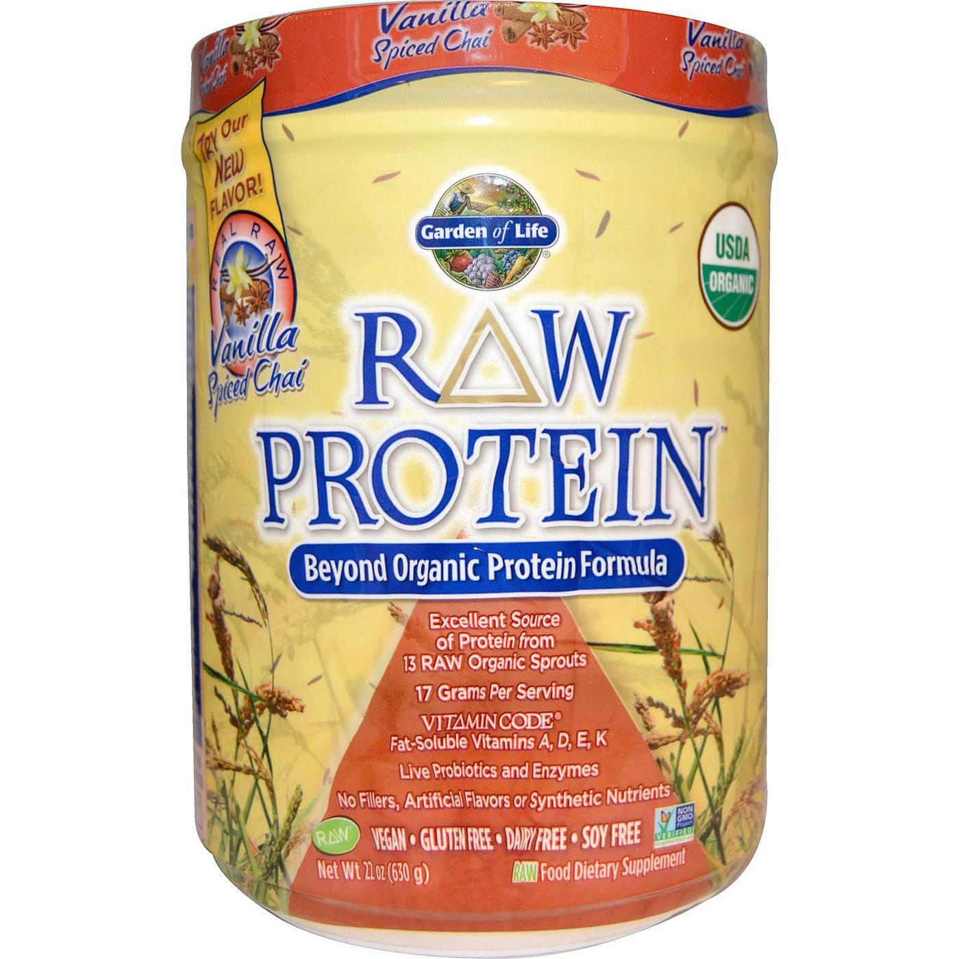 Garden Of Life Raw Protein Vanilla Spiced Chai 22 Oz