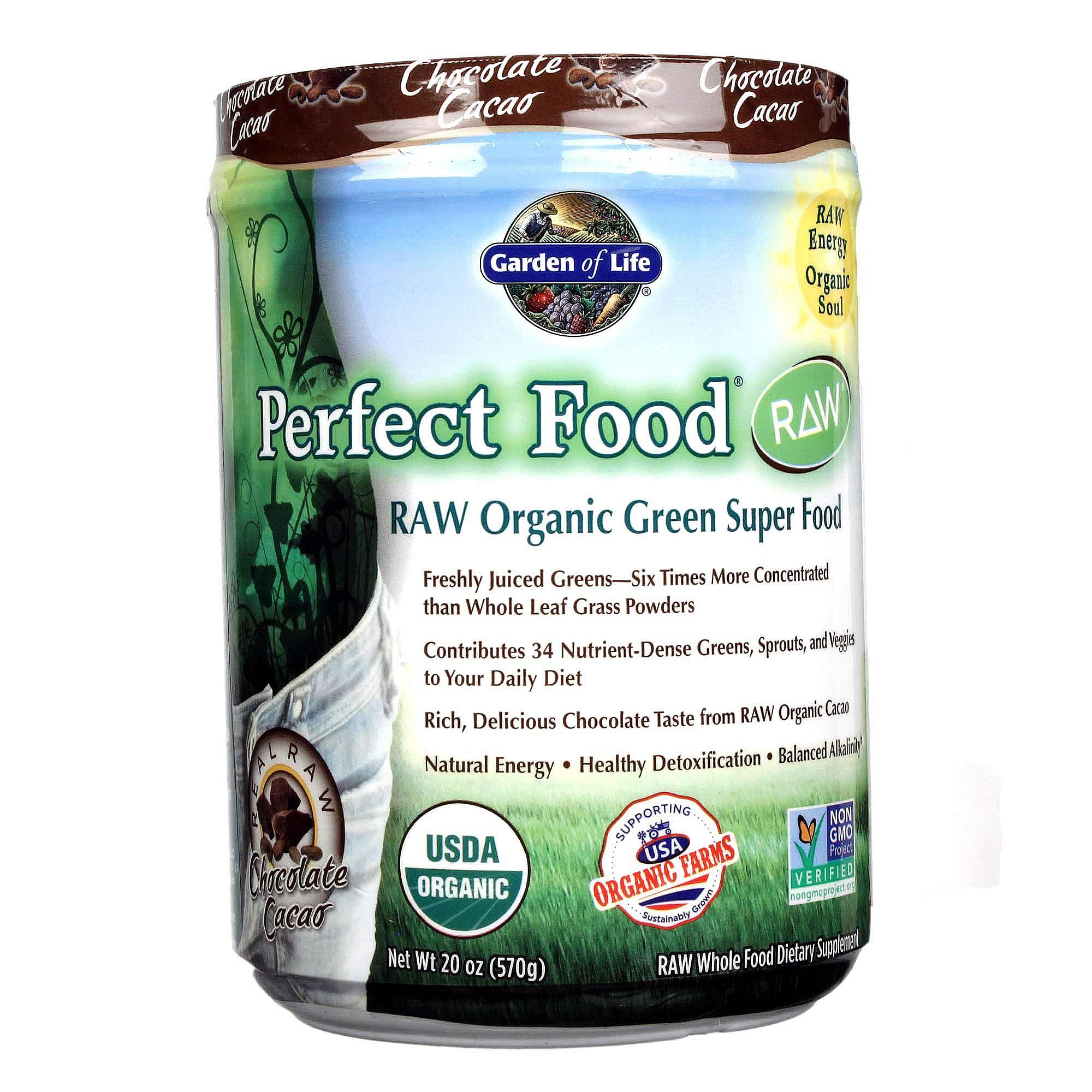 Garden Of Life Perfect Food Raw Organic Chocolate Cacao 20 Oz