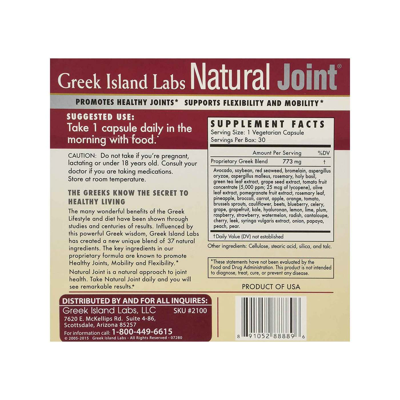 Greek Island Labs Natural Joint Reviews