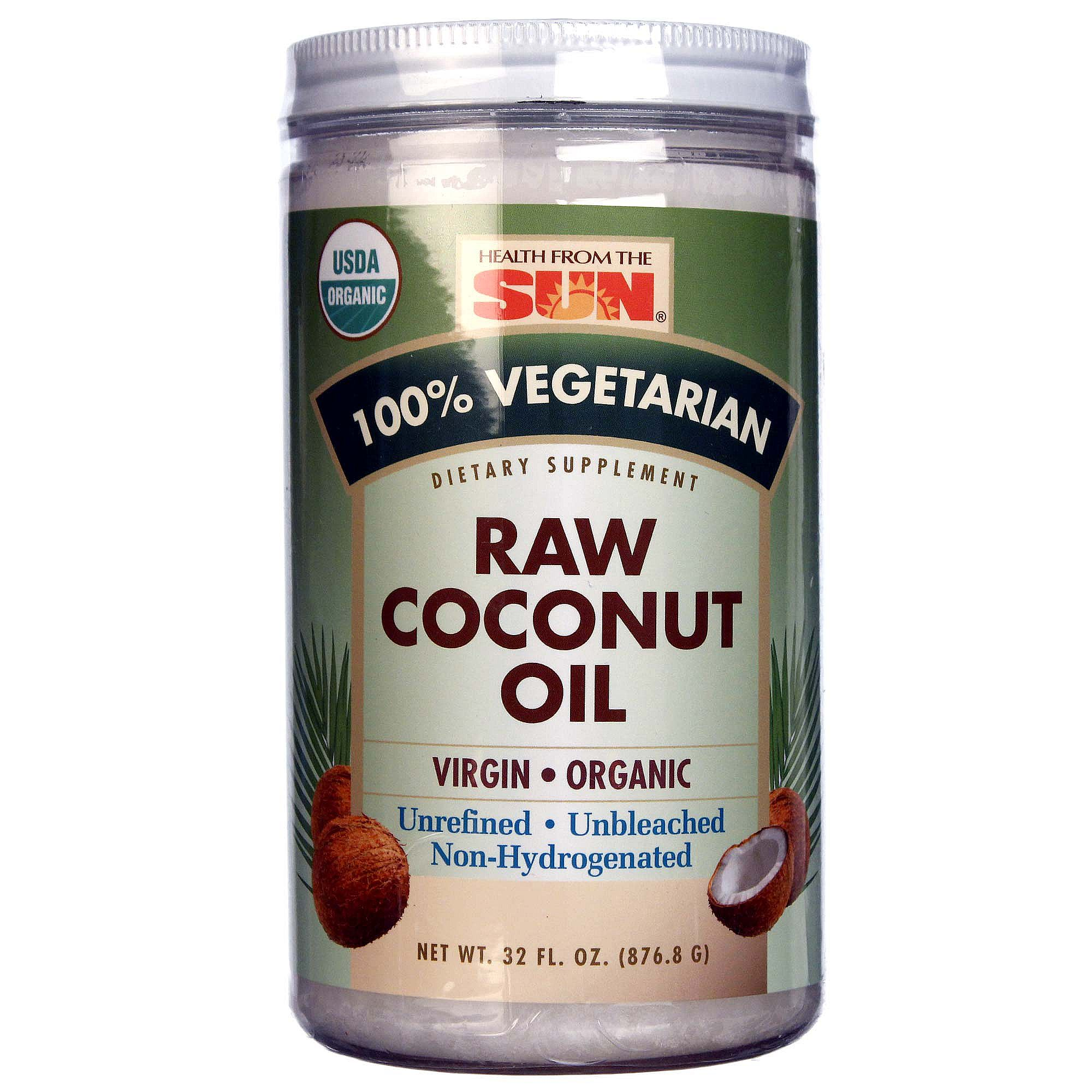 health from the sun organic raw coconut oil 32 fl oz by health from