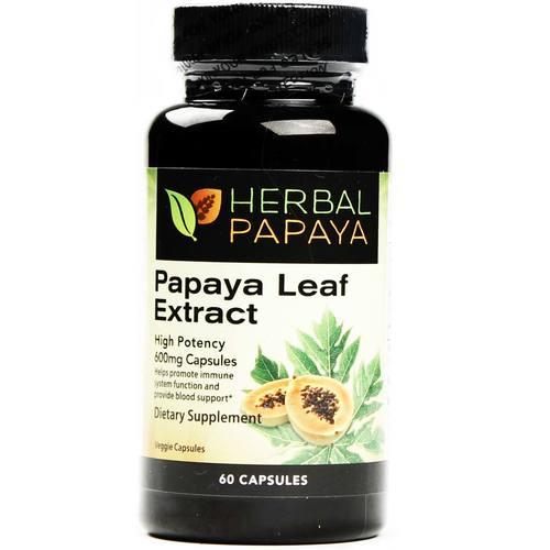 Herbal Papaya Papaya Leaf Extract 60 Capsules