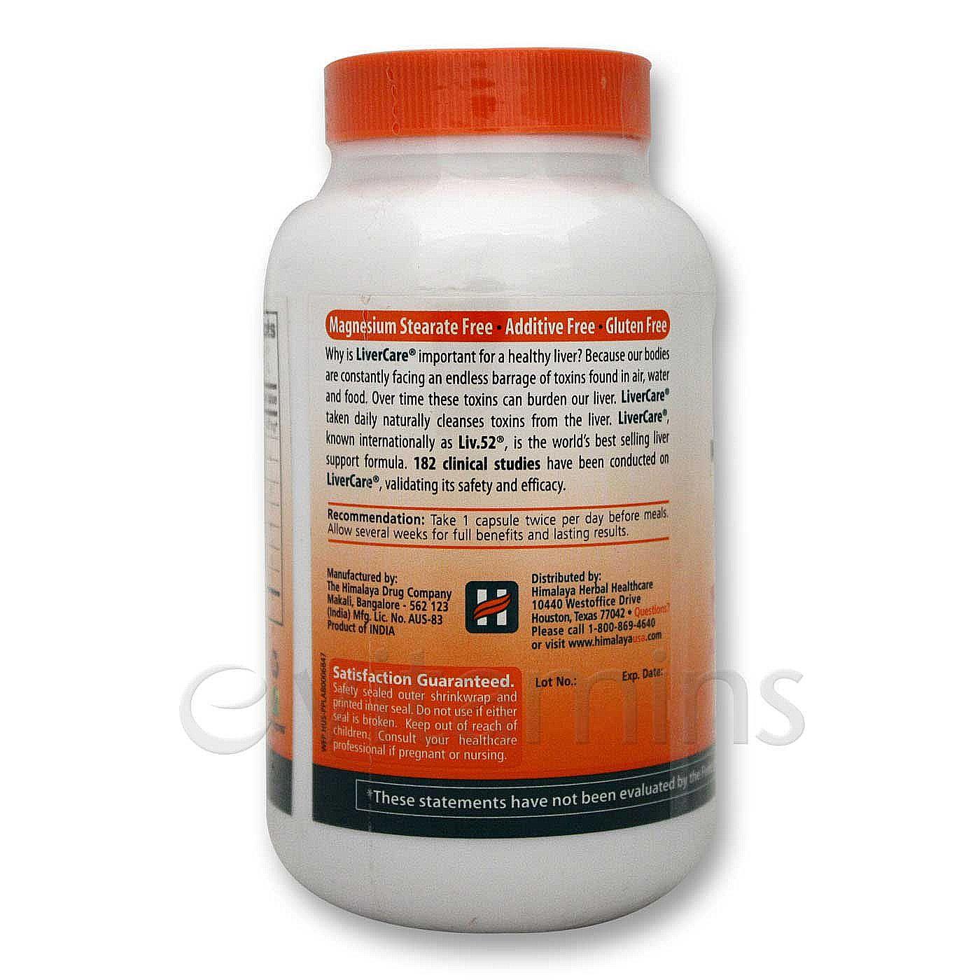 Liv52 Himalaya Herbal Healthcare Benazepril 20 25 Mg Liv 52 100 Caps Products