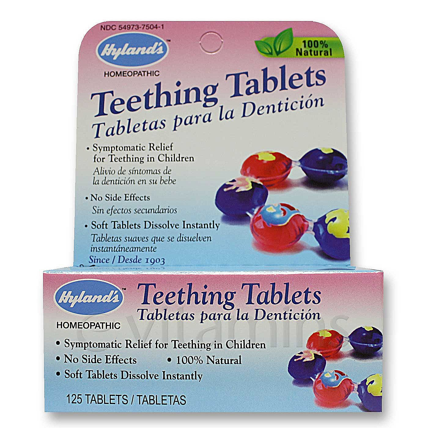 Hyland's Teething Tabs - 125 Tablets - eVitamins.com