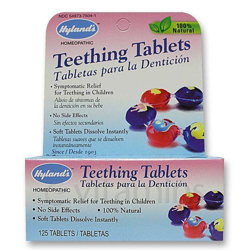 Hyland's Teething Tabs - 125 Tablets - eVitamins.com