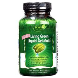 Irwin Naturals Women's Living Green Liquid-Gel Multi