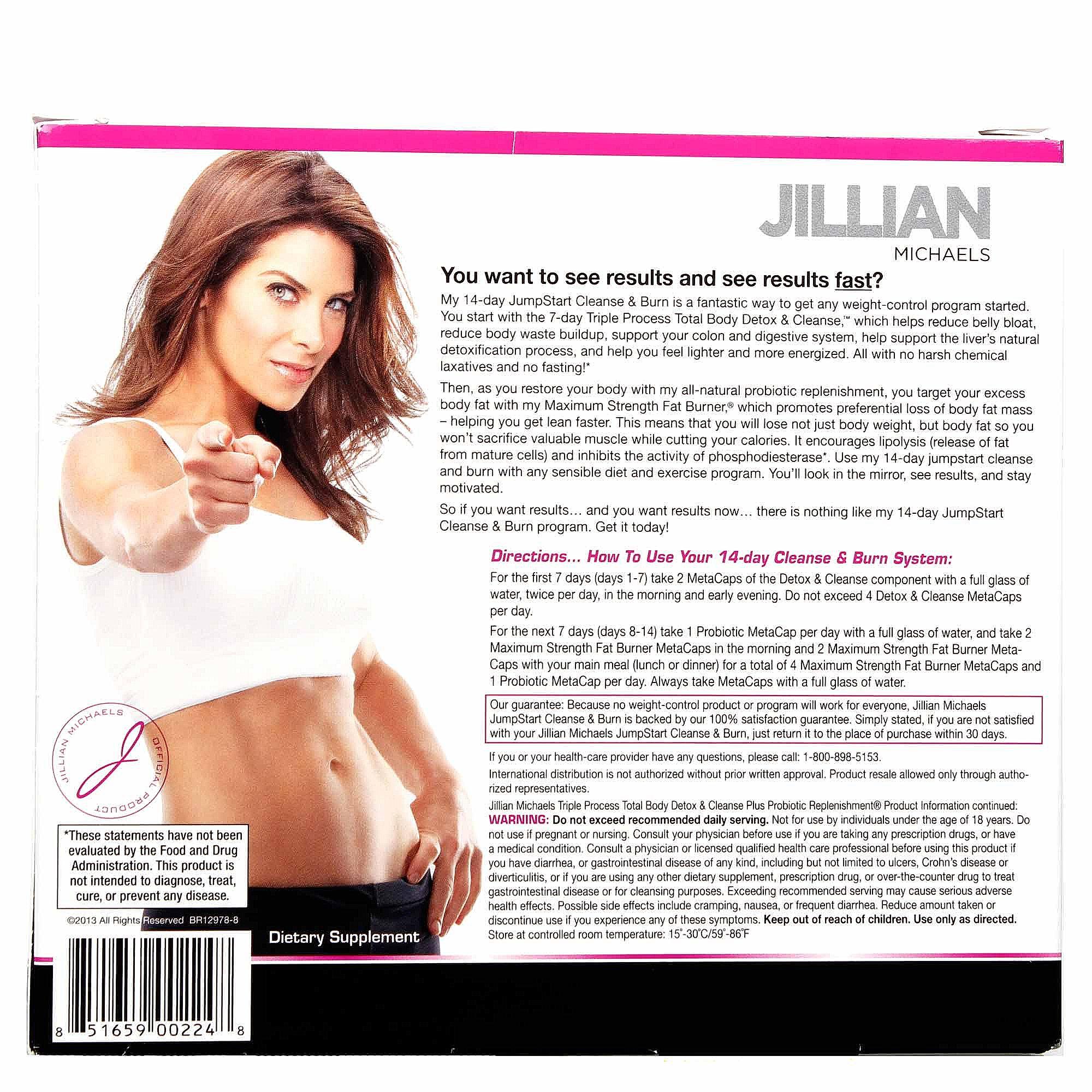 Jillian cleanse and burn