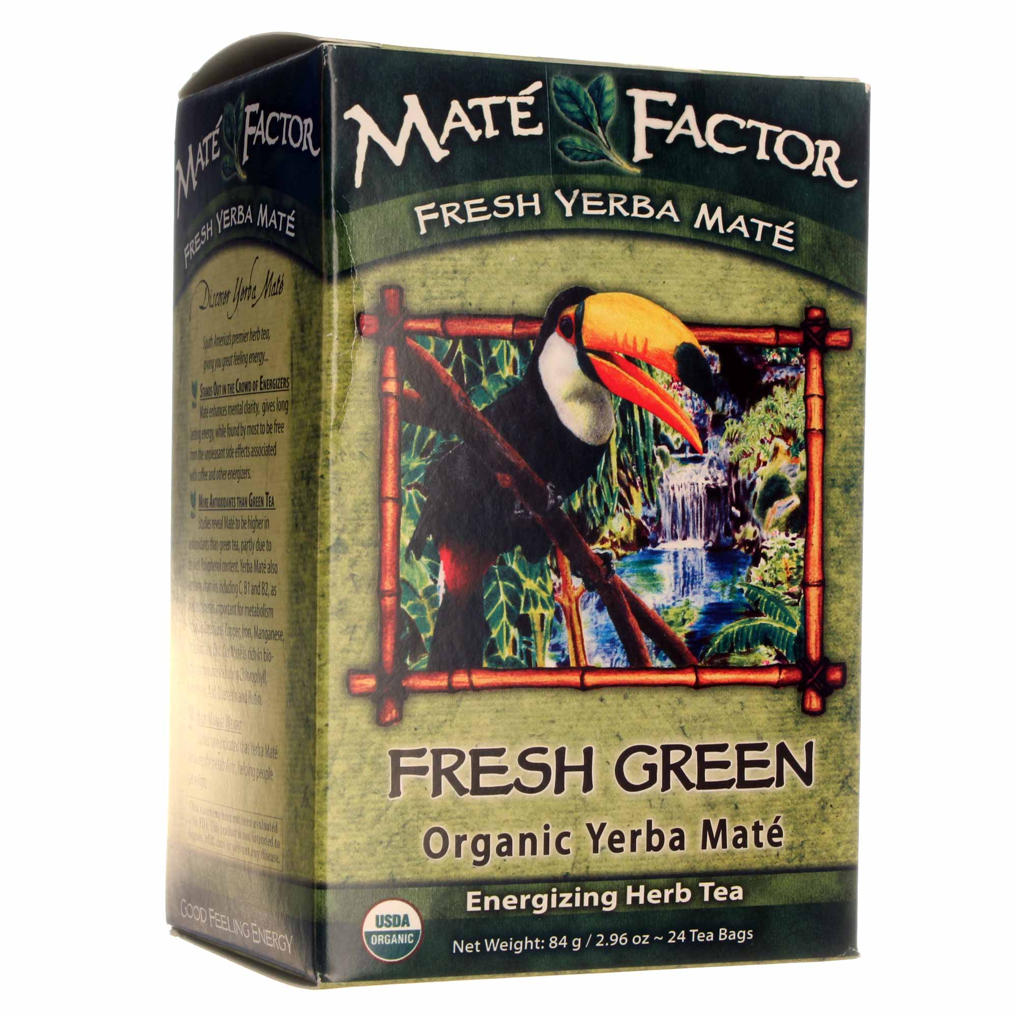 Mate Factor Fresh Green Organic Yerba Mate Tea 24 2 96