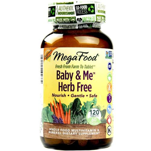 Megafood Baby And Me Herb Free California Blend 120