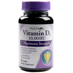 Natrol Vitamin D3 10,000 IU