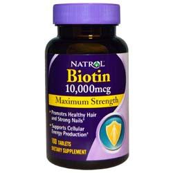 Biotin Maximum Strength 10,000 mcg