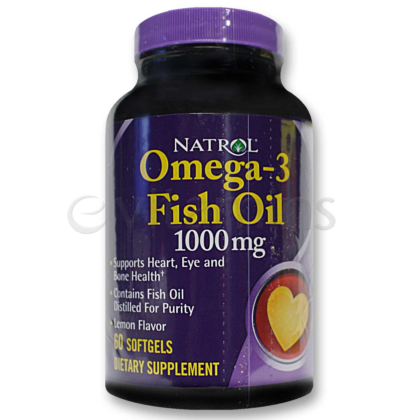 Natrol omega 3 fish oil 1 000 mg lemon 60 softgels for Fish omega 3