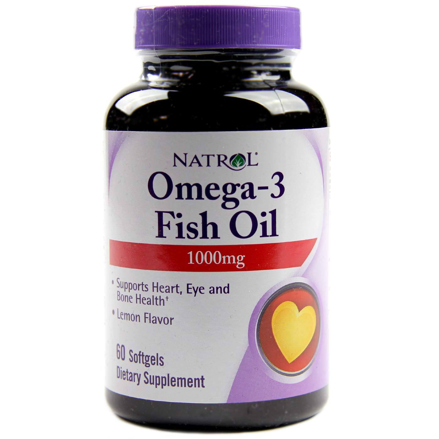 Natrol omega 3 fish oil lemon 1000 mg 60 softgels for Fish oil 1000 mg