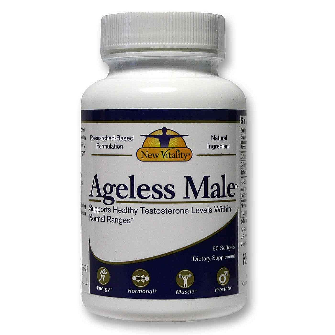 Ageless Male Max's clinically tested ingredients help boost TOTAL testosterone and increase Nitric oxide by as much as 64%† to support healthy blood flow throughout your entire body (healthy NO levels are important for sexual arousal).*.