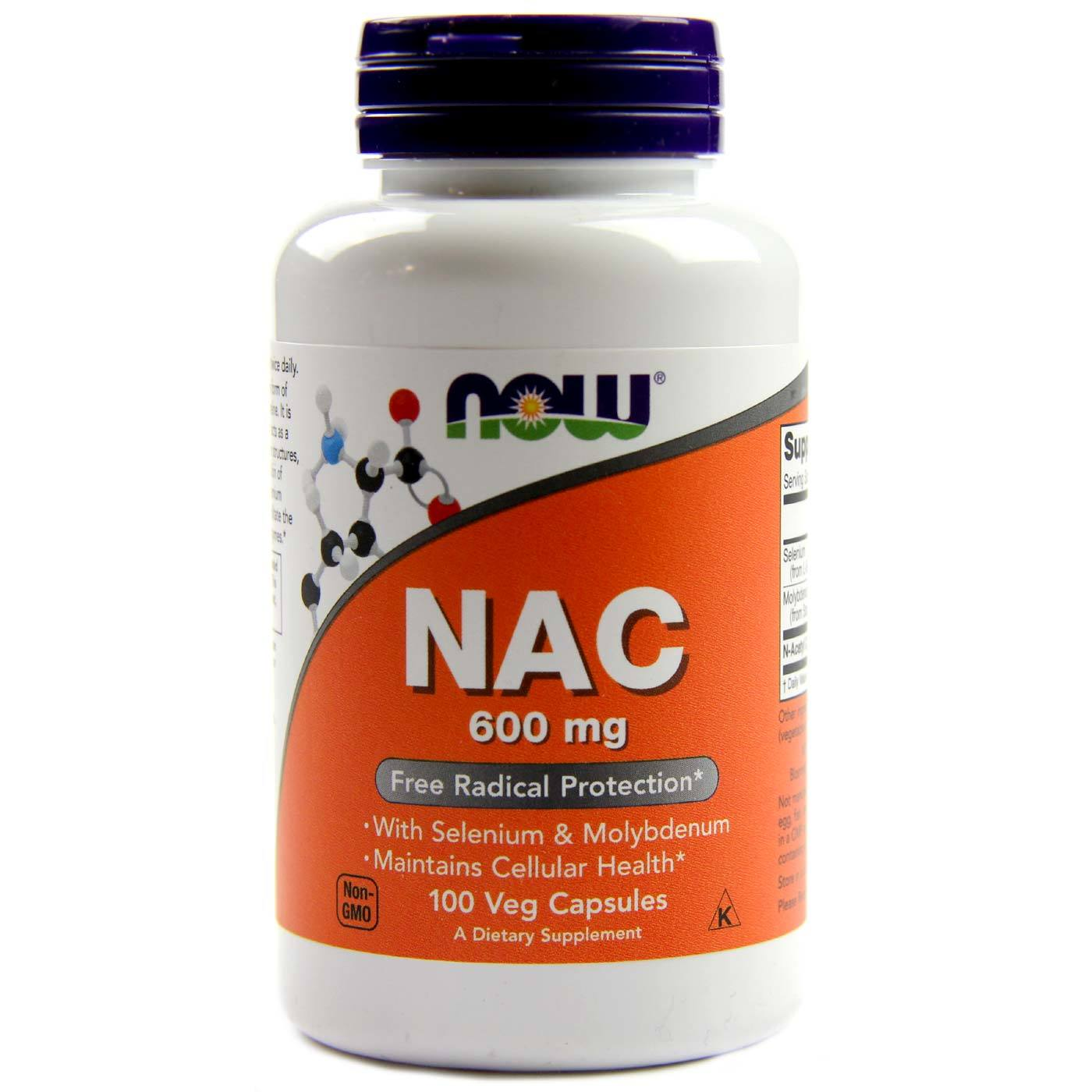 Now Foods NAC - 600 mg - 100 Caps - eVitamins.com