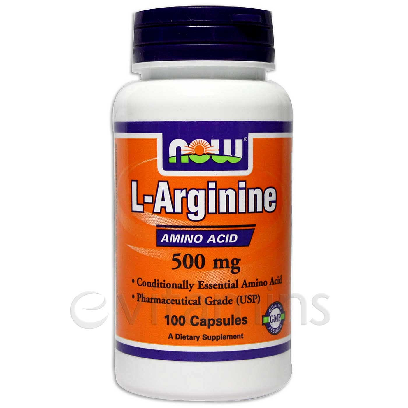Now Foods L-Arginine 500 mg - 100 caps - Fast, Reliable to ...