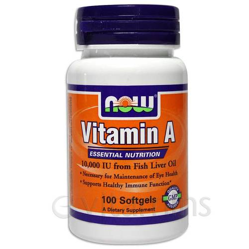 Buy now foods vitamin a 10 000 iu fish liver oil 100 for Vitamin e and fish oil
