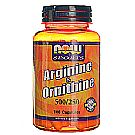 Now Foods L-Arginine 500 mg and Ornithine 250 mg