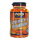 Now Foods Arginine and Ornithine 500/250 mg