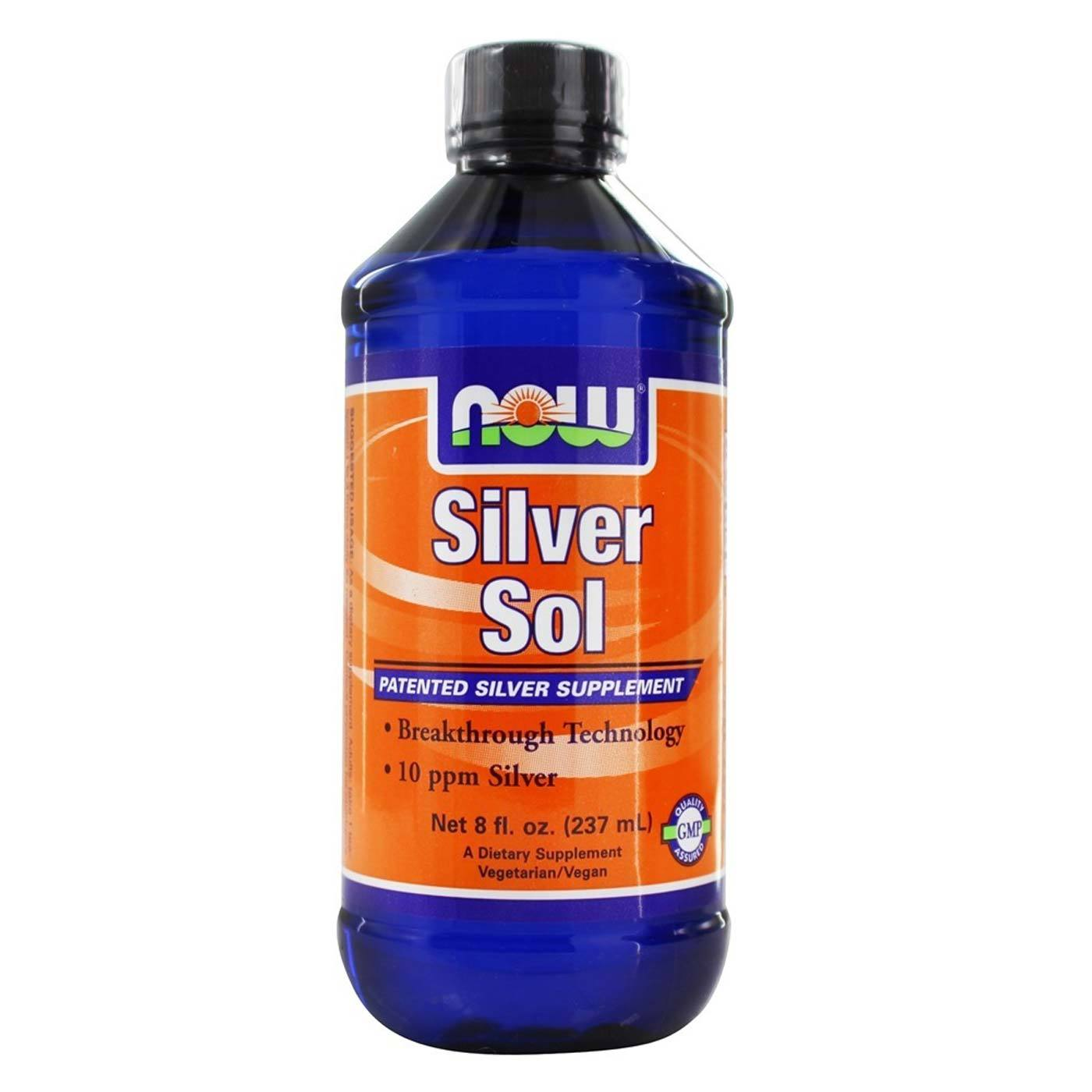 Now Foods Silver Sol 8 Fl Oz Evitamins Com