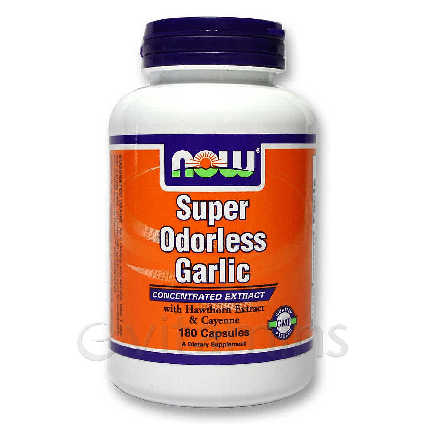 Buy now foods super odorless garlic hawthorn and cayenne - Super sayenne ...