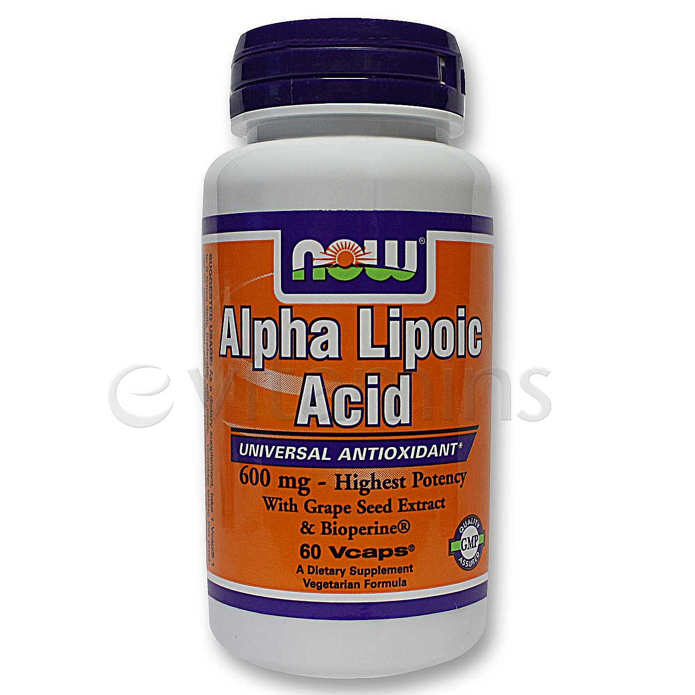 Alpha lipoic acid now