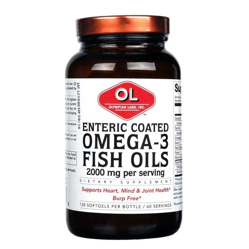 Olympian labs enteric coated omega 3 fish for Enteric coated fish oil