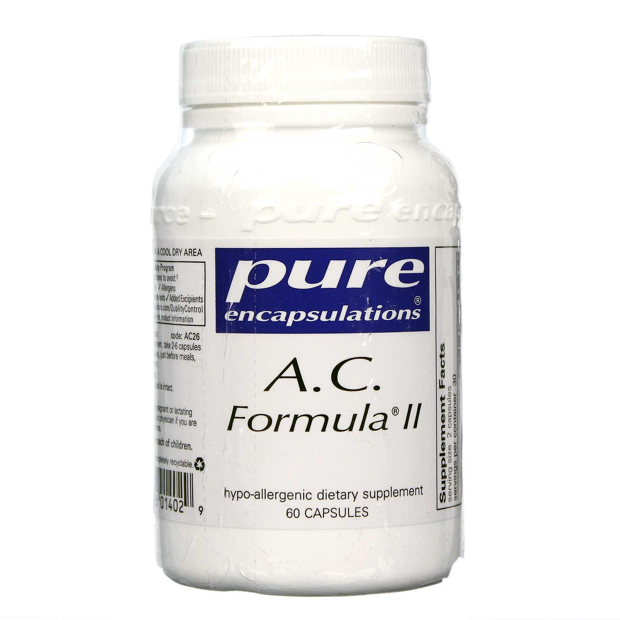 Pure Encapsulations Ac Formula Ii 60 Capsules