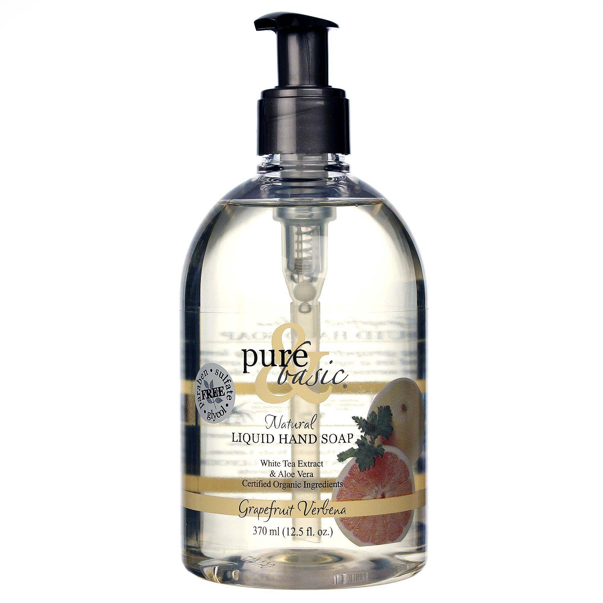 pure and basic liquid hand soap grapefruit verbena 12 5. Black Bedroom Furniture Sets. Home Design Ideas